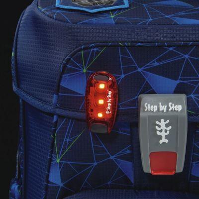 Turvavalgusti SBS LED punane, ranitsale ja seljakotile, kinnitusklambriga