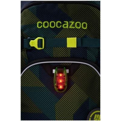 Turvavalgusti Coocazoo LED roheline, ranitsale ja seljakotile, kinnitusklambriga