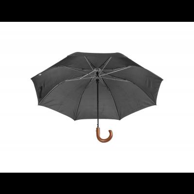 Vihmavari STANSED kokkupandav, must