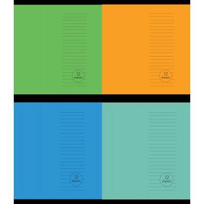 Vihik A5+(170x230) 23joont, 12 lehte, Basic, 4 motiivi