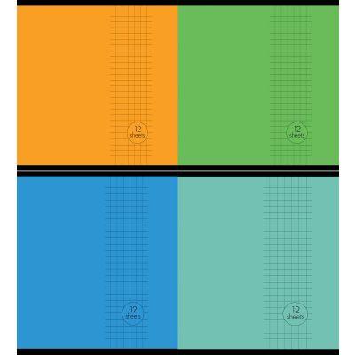 Vihik A5+(170x230) 5x5ruut, 12lehte, Basic, 4 motiivi