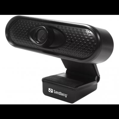 Veebikaamera Sandberg USBWebcam 1080P FullHD (1920x1080) @ 30fps 2MPix  black/must USB2.0 kaabel 1.2m