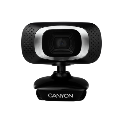 Veebikaamera Canyon CNE-CWC3N HD 720p video @ 30fps, kuni 12MPix foto, 1MP CMOS sensor, 2m USB2.0-kaabel, mikrofon, clip-kinnitus