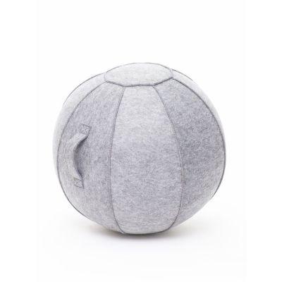 Istumispall/Tasakaalupall Stoo Active Ball D-65cm, käepide/ helehall vilt, kasutaja kasvule kuni 175cm ja kaalule kuni 180kg