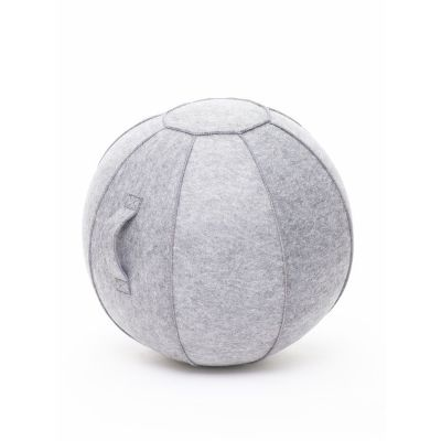 Istumispall/Tasakaalupall Stoo Active Ball D-75cm, käepide/ helehall vilt, kasutaja kasvule üle 175cm ja kaalule kuni 180kg