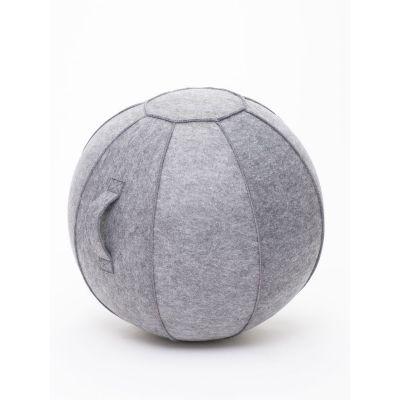 Istumispall/Tasakaalupall Stoo Active Ball D-75cm, käepide/ tumehall vilt, kasutaja kasvule üle 175cm ja kaalule kuni 180kg