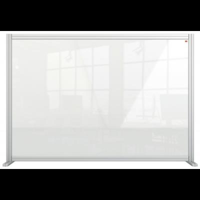 Kaitseklaas / kaitseekraan NOBO PremPlus Acrylic lauale, 140x100(H)cm, 2 tugijalga/ akrüül