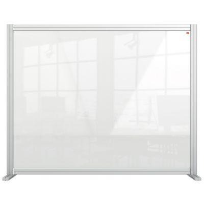 Kaitseklaas / kaitseekraan NOBO PremPlus Acrylic lauale, 120x100(H)cm, 2 tugijalga/ akrüül