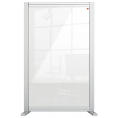 Nobo Premium Plus Clear Acrylic Protective Desk Divider Screen Modular System 600x1000mm