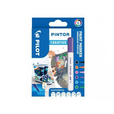 Marker Pilot Pintor , FINE 1-2,9mm, koonus ots, Creative 6värvi/kompl,veebaasil