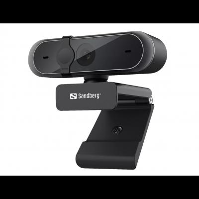 Veebikaamera Sandberg USBWebcam Pro 1080P FullHD 1920x1080@30fps 5MPix black/must USB2.0 kaabel 1.2m klaasobjektiiv, omnidirec.-stereo mic