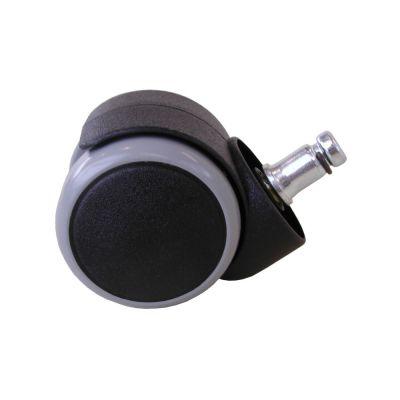 Tooli põrandat säästvad rattad piduriga/ nn. kummirattad 200417,  D-50mm, tihvt 11mm, universaalsed/ 5 tk kompl.