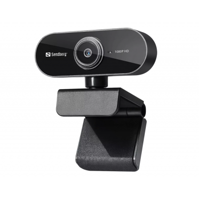 Veebikaamera Sandberg USBWebcam Flex 1080P FullHD (1920x1080) @ 30fps 2MPix klaasobjektiiv 72kraadi black/must USB2.0 kaabel 1.35m