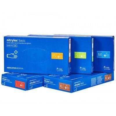 Nitriilkindad Nitrylex Basic puudrita M suurus 100tk/pk(sinine)