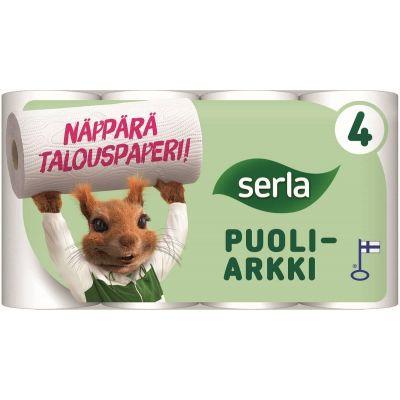 Rullkäterätt Serla Orava 2- kihiline, 4rulli/pk (poolleht)
