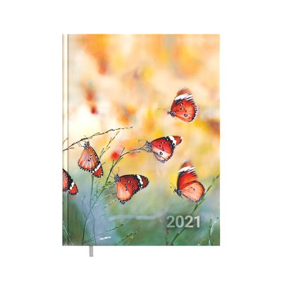 Raamatkalender A4 President Disain Butterfly, vertikaalne nädala sisu, kõvaköide
