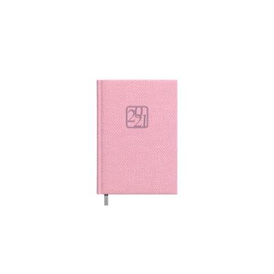Raamatkalender Nõunik Päev roosa, kunstnahast kaantega, päeva sisu