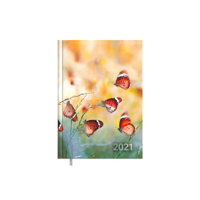 Raamatkalender Minister Disain Butterfly Nädal H  A5, kõvaköide, pildiga kaaned, nädala sisu