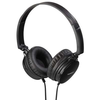 Kõrvaklapid+mikrofon Thomson HED2207BK headphones, on-ear 40mm, black/must, 4-pin 3.5mm Stereo, mikrofon kaablil, kaabel 1.2m