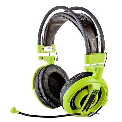 Kõrvaklapid mikrofoniga e-blue Cobra I, must/roheline