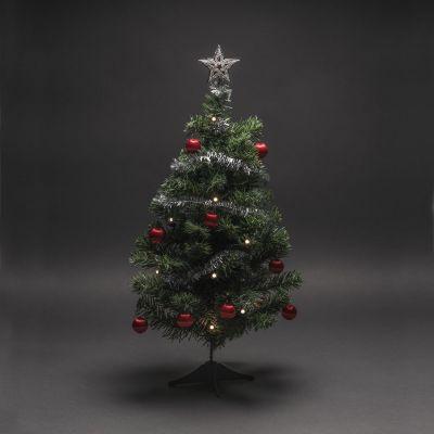 Jõulukuusk/kunstkuusk ehete ja 10ww LED tulega, K-58cm, L-33cm