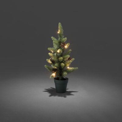 Jõulukuusk/kunstkuusk rohelises potis, 10ww LED tulega, H-45cm, L-22cm, +taimer 6 või 9 tundi; lisada patareid 4xAA