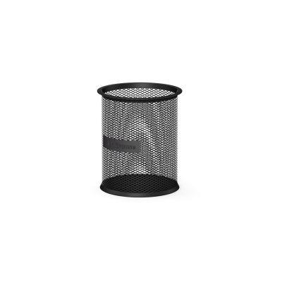 Pliiatsitops ümar, must metall võrk (kõrgus 100mm, läbimõõt 90mm) Erich Krause