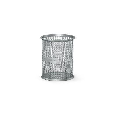 Pliiatsitops ümar, hõbe metall võrk (kõrgus 100mm, läbimõõt 90mm) Erich Krause