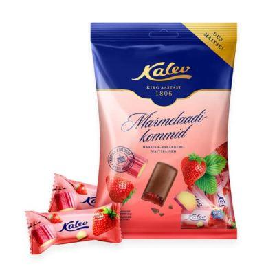 Marmelaadikompvek maasika-rabarberimaitseline 175g, Kalev