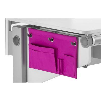 Tarvikute tasku Utensilo 788344 riputatav MOLL kirjutuslaudade küljele/ Pink tekstiil+konksud