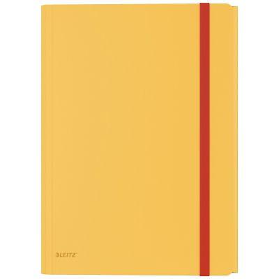 Kummiga mapp lisataskuga trukiga, 235 x 8 x 320mm Leitz Cosy, PP, kollane