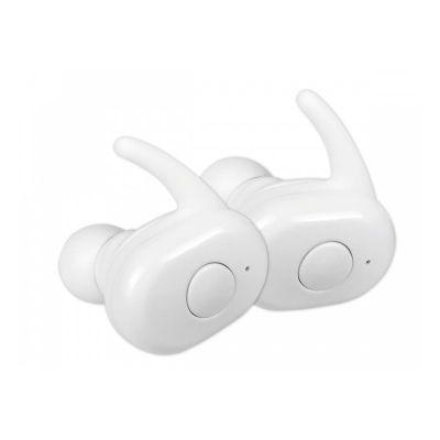 Kõrvaklapid+mikrofon Omega Freestyle kõrvaklapid FS1083 valged kõrvasisesed juhtmevabad Bluetooth5.0, akupank-laadimiskarp