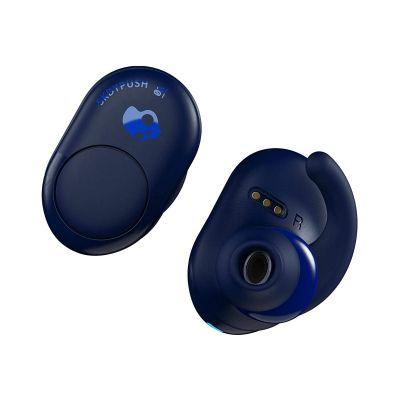 Kõrvaklapid+mikrofon Skullcandy Push True Wireless Earbuds Indigo/Blue - täielikult juhtmevabad, koos laadimiskarbiga, Bluetooth 4.2