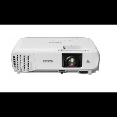 Multimeediaprojektor Epson EB-W39 3500lm 3LCD WXGA 1280x800 16:10 HD720p 15.000:1 2xVGA 2xHDMI LAN(RJ45) USB speaker5W pult 3YW