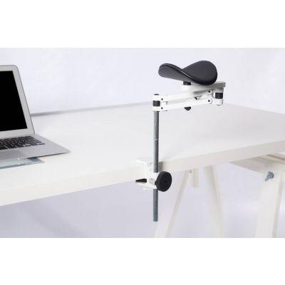 Käetugi ErgoRest 331, standard, valge kinnitus/must padi, lauakinnitus 15-43mm, laua pinnast kõgemaks reguleeritav (100mm)