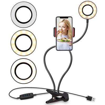 Telefonihoidik videoblogijale Satzuma Video Blogger, valgustusega, klambriga
