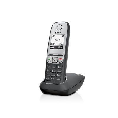 """Telefon Gigaset A415 must, juhtmevaba, 1.8"""" ekraan, DECT,GAP, kuni 4 lisatoru, numbrinäit CLIP"""