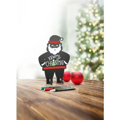 Lauatahvel SECURIT Christmas Silhouette 3D SANTA/Jõuluvana, must, K-19x L-14,5cm + 3 markerit/ kompl.
