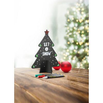 Lauatahvel SECURIT Christmas Silhouette 3D TREE/ Kuusk, must, K-18.5xL-14.5cm +3 markerit/ kompl.