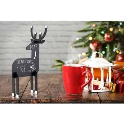 Lauatahvel SECURIT Christmas Silhouette 3D DEER/ Põder, must, K-31x14,7x11,3cm + 3 markerit / kompl.