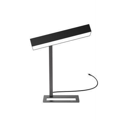 Valgusti UNILUX Sundesk Day LED, 21W, 10 000Lux, K-36cm; 2 positsiooni, valgusteraapia lamp/ must