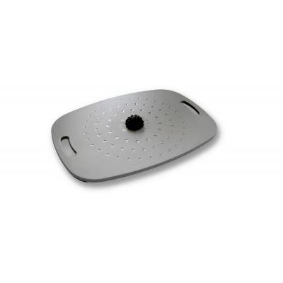 Tasakaalulaud aktiivseks seismiseks Stoo Active Board Grey/Hall (55cm x 40cm) massaažipalliga, kasutajale kuni 300kg