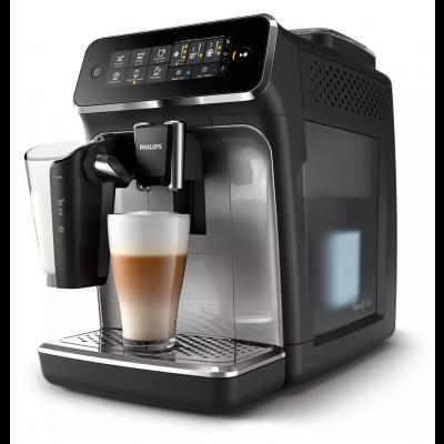 Espressomasin Philips LatteGo EP3246/70 tumehall/hõbedane, puuteekraan, 5 kohvijooki, AquaClean filter, veepaak 1.8L/275gr ubadele