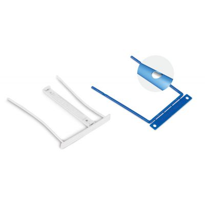 Arhiivikarbi klamber köitepiik D-Clip, sinine F-binder 8cm metallklamber,100tk/pk Forpus