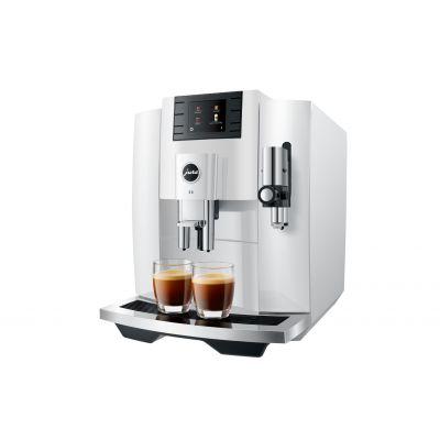 Espressomasin Jura E8 Piano White valge (EB 2020) veepaak 1.9L, oamahuti 280gr, kohvipaksusahtel 16portsjonit