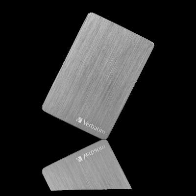 Kõvaketas väline HDD Verbatim Store n Go  Aluminium Slim Dark Grey 1TB USB3.2 (Gen.1 max 5Gbps) Portable Hard Drive 2,5` USB-C adapter