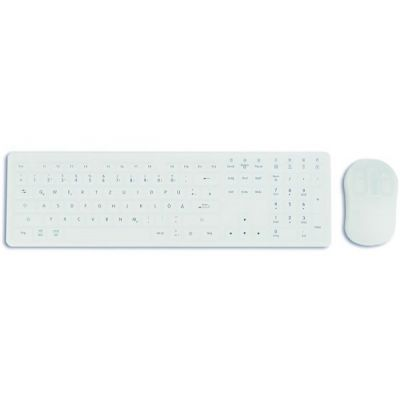 KEION wireless keyboard and mouse with charger - medical IP68, Can be disinfected with any surface disinfectant. German layout