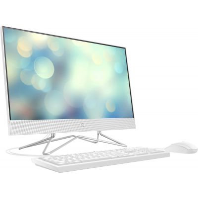 "Lauaarvuti HP AIO 23.8"" FullHD AG Touch Ryzen 5 3500U 4GB 1TB klaviatuur, hiir, DOS, valge"