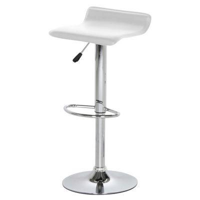 Baaripukk DAN, AC25420, istme kõrgus 57-78cm, iste 38x39cm, kaalupiitang 110kg/ valge kunstnahk + kroom