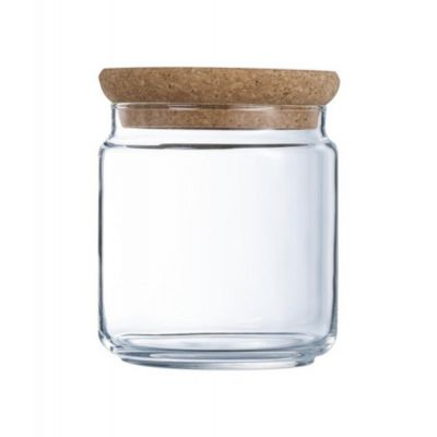 Glass jar PURE with wooden lid 0,75l